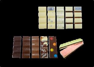 bartrinha de chocolate diverso sabores