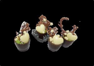 Copinho de chocolate com trufa de pistache