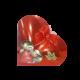 coração com chocolates alto brilho