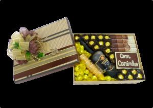 embalagem de chocolate com licor